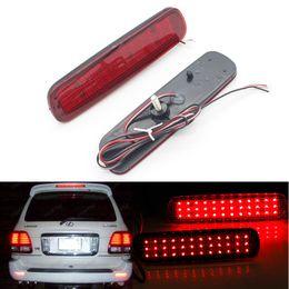 Wholesale toyota fog - 2pcs LED Red Rear Bumper Reflector Light Fog Parking Warning Brake Tail Lamp fit for Toyota Land Cruiser 100 Cygnus LX470