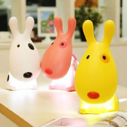 Wholesale Animal Night Lights Kids - Promotion!!! Lovely Cartoon 3D Dog Kids LED Night Light USB Rechargeable Children Study Table Lamp Desk Reading Light free shipping