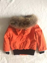 Wholesale Winter Fur Coats For Girls - ME8 Baby Brand Winter Jacket Kids Outwear Real Raccoon Fur Collar snow coat children parka for boys and girls