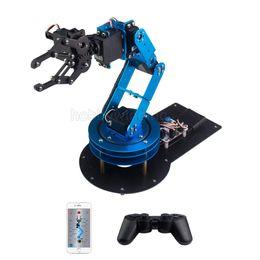 Wholesale Arm Robots - 6DOF Full Metal Manipulator Robotic Arm Claw with servos controller Wireless Handle Education Robot Provide English tutorials