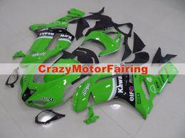Wholesale Gloss Black Kawasaki Zx6r Fairings - 3 Free gifts New Motorcycle Fairing kit for KAWASAKI Ninja ZX6R 07 08 ZX6R 636 2007 2008 TOP ABS Fairings set gloss black green elf