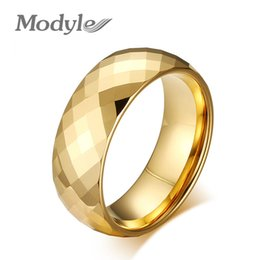 Wholesale Rings Design For Mens - Top Quality 18K Gold Plated Wedding Jewelry Brand Design Mens Ring Gifts Tungsten Ring for Men Jewelry Free Shipping