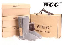 Wholesale Genuine Australia Boots - New Arrival High Quality Classic WGG Brand Women popular Australia Genuine Leather Boots Fashion Women's Snow Boots US5--US12 Free Shipping