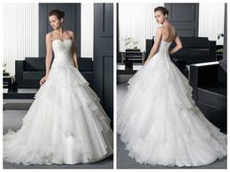 Wholesale Net Sheer Sleeve Dresses - 2016 New Detachable Beaded Strapless Sheath A Line Wedding Dresses Net Yarn Flounced Trailing Wedding Bride Chapel Wedding Dress Plus Size