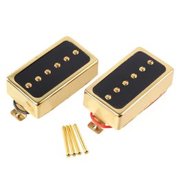 Wholesale Guitar Pickups Single Coil - Gold Neck And Bridge Humbucker Pickups Single Coil for Electric Guitar Part