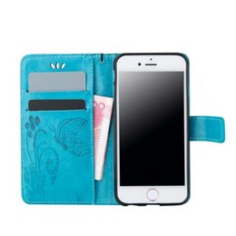 Wholesale Cover Huawei Butterfly - For Huawei Mate 8 Y550 Y560 For G360 G530 A510 G850 J3 E5 E7 A3 A5 J2 Note5 Butterfly Flower Wallet Leather Card Slot+Strap Flip Skin Cover