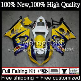 Wholesale Corona Motorcycles Gsxr - Bodys For SUZUKI GSX-R1000 GSXR-1000 GSXR 1000 03 04 Bodywork 29G811 GSXR1000 03 04 K3 Blue CORONA GSX R1000 2003 2004 Motorcycle Fairing