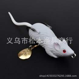 Wholesale Mice Lures - Boxed 6.9cm 13.2g 5pcs Fishing Lures rat Bait High Quality Softbait Mouse Floating Frog Lures Lifelike Bass Fishing Accessories
