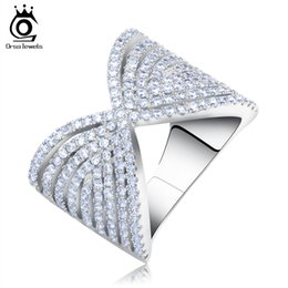 Wholesale Design Polish - 2017 Bow Design Brilliant CZ Rings with Perfect Polished Platinum Plated for Women Wedding Party Ring OR90