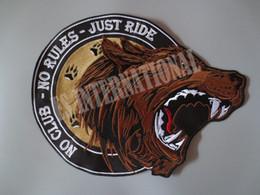 Große motorrad-patches online-12,6 Zoll einzelner Bär brüllend große Stickereiflecken für Jacke zurück Weste Motorrad Biker