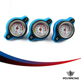Wholesale Bar Radiators - PQY STORE-FREE SHIPPING D1 Spec RACING Thermost Radiator Cap COVER + Water Temp gauge 0.9BAR or 1.1BAR or 1.3 BAR Cover