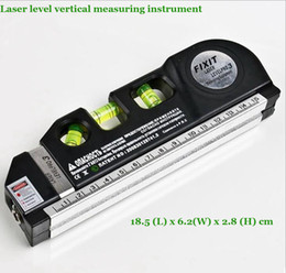 Wholesale Vertical Horizon - Wholesale-Factory direct sales brand Laser level Multipurpose Level Laser Horizon Vertical Measure Tape Aligner Bubbles Ruler 8FT Newest