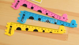 Wholesale Kid Ruler Stationery - 100sets=400pcs Multi-purpose ruler suits for kids Art Tool Ruler Creative Drawing ruler stationery tool DHL Fedex Free shipping