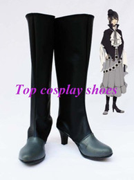 Wholesale Alice Queen Costume - Wholesale-Freeshipping custom-made anime Are you Alice The Queen of Hearts Hight Heel Cosplay Boots for Halloween Christmas festival