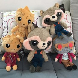 Wholesale Galaxies Video - 20cm Guardians of the Galaxy Plush Dolls Guardians of the Galaxy Plush Toys Stuffed Kids Toys Christmas Gift for Kids OTH565