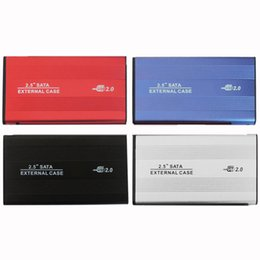 Wholesale Usb Hdd Reader - USB 2.0 2.5 Inch SATA IDE Enclosure External Case Box Mobile Disk Reader For HDD Notebook Laptop Hard Disk aluminum-magnesium alloy