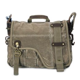 Wholesale Shoulder Bag Briefcase Women - Tsd shoppe quality goods canvas messenger bags men briefcases for work vintage fashion shoulder bags for men and women BL5278 army green