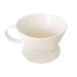 Wholesale Hand Poured - Ceramic Coffee Pour Over Dripper Filters Hand Drip Porcelain Coffee Filter Cone