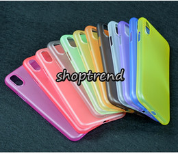 Wholesale Iphone 4s Thin - 0.3mm ultra thin colorful transparent plastic matt skin case cover for apple iphone x 10 8 7 6s 6 plus se 5s 5 4s 4 bulk dhl free shipping