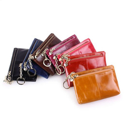 Wholesale photo birthday cards - Wholesale- genuine leather kids small wallet men coin case slim travel wallet children change purse bags for boys birthday gifts key holder