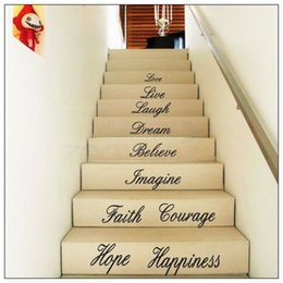Wholesale 58 Stickers - ZY8114 58*186cm Love Live HOPE Live Laugh Love English Proverbs Wall Decals PVC Removable Art Home Wall Stickers 8114 Room Wall Decor