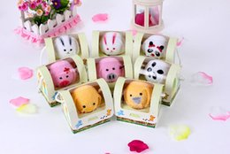 Wholesale Towel Cake Designs - Free Shipping 24pcs lot animal design cake towel for baby shower favors event party giveaways wholewsales
