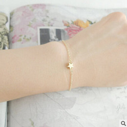 Wholesale Outlet Point - Wholesale-SL 024 2016 summer women bangle bracelets and silver plated simple yellow five-pointed star bracelet factory outlets