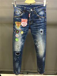 2018 новое прибытие хорошее качество известный бренд мода дизайн джинсы разорвал мыть синий длинные эластичные прямые мужские джинсы горячие продажа 1722 cheap wash fashion blue jeans men от Поставщики модные джинсы