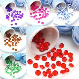 Wholesale Diamond Confetti Colors - 500pcs set 8mm Acrylic Diamond Confetti Wedding Party Table Scatters Crystal wedding Decoration confetti 24 colors free shipping