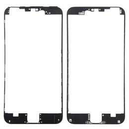 10pcs bisel frontal con pegamento caliente Marco medio para iPhone 6S 4.7 VS 6S Plus 5.5 pulgadas Negro blanco Piezas de repuesto desde fabricantes