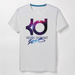 Kd camiseta on-line-Basquete Kevin Durant KD de manga curta t-shirt de algodão em torno do pescoço T-shirt solto grande tamanho dos homens camisa casual