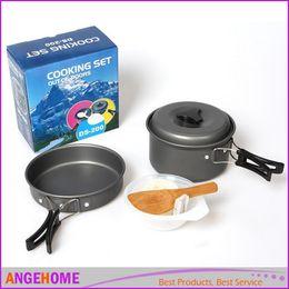 Wholesale Anodized Aluminum Kits - Lightweight Camping Backpacking Pot Pan Bowl Cooking Set, Portable Anodized Aluminum Cooking Ware Cookware Picnic Bowl Pot Pan Kits