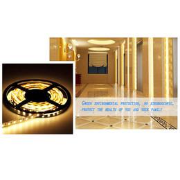 Wholesale Decration For Home - Wholesale- 1 PC DC 12V 5M SMD 300 LEDS 5050 Non-Waterproof LED Strip Light White Warm White for Home Decration P31