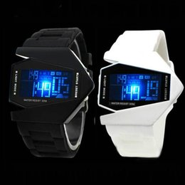 Wholesale Force Electronics - Electronic 2017 New LED Watch Force Digital Watches Fashion Sports Plane Men Wristwatch Silicone Band Military Relojes