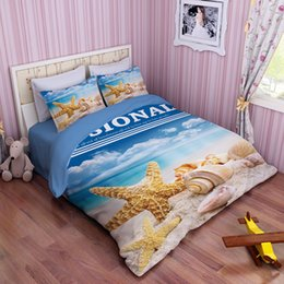 Wholesale Starfish Duvet Cover - Starfish Beach Shell 3D Printed bedding sets bedspreads cartoon bed duvet covers Adults bedroom decor Full Queen King size