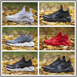 Wholesale Sneaker Running - 2017 New Air Huarache IV 4.0 Ultra Running shoes Huraches trainers for men & women Multicolor shoes Triple Huaraches sneakers