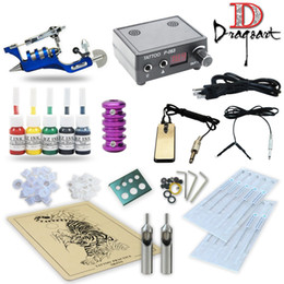 Wholesale Tattoo Gun Kits Prices - Good Quality Best Price Free Shipping USA Pro Tattoo Kit Rotary tattoo Machines Guns Power supply Ink TK11-1101