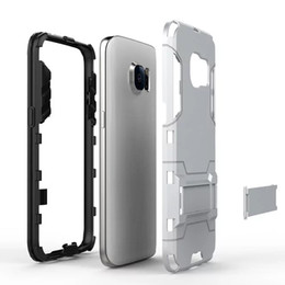 Wholesale Dual Layer Holster Case - hybrid armor defender for Galaxy Note4 Note5 S5 S6 S7 edge tough Holster Heavy Duty Armor Shield 2-in-1 Dual Layer Kickstand Case Cover