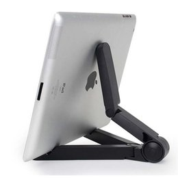 Support trépied pour tablette en Ligne-Support de support universel flexible et pliable pour tablette Support de support de tablette portable Support de trépied pour iPhone Samsung iPad Tablet PC Stand