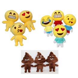 emoji plush Promotion 20cm (8inch) QQ Expression Emoji Merde Poupée Smiley poupées Cartoon Jaune Rond Emoji Peluche Poupée Peluche Peluche EMS expédition E1282