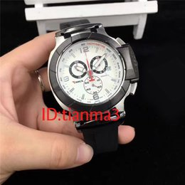 Wholesale Mans Time Style - 2017 latest style men's T series black dial Japan quartz work time meter rubber watch men luxury watch ts many colors