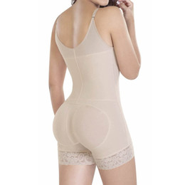 Wholesale Woman Lingeries Xl - Wholesale- Hot Sexy Lace Waist Trainer Tummy Control Women Waist Stretchy Bodycon Corset Cincher Body Shaper Bodysuit Butt Lifter Lingeries