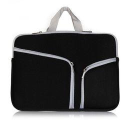Ordenes de viaje online-Ordenador portátil con cremallera bolsa de bolso para Macbook 12 13 15 pulgadas de almacenamiento que lleva bolsas de viaje Universal orden de la muestra