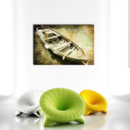 Wholesale Old Home Oil Painting - 1 Picture Combination Art Old Ship Moderm Oil Painting Print on Canvas Wall Art Picture For Home Wall Decorations Wall