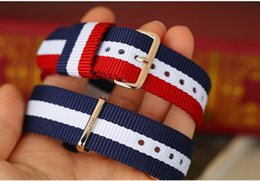 Wholesale 18mm Nylon Strap - 5pcs Mixed color Wholesale Original high quality for DW Watches nylon strap Men 20mm Women 18mm Silver rose gold watch clasp
