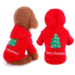 Wholesale Merry Chirstmas - Classic Warm Dog Clothes Puppy Outfit Pet Cat Jacket Coat Winter Soft Sweater Clothing For Small Dogs New year Apparel Merry Chirstmas