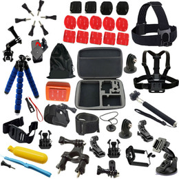 Wholesale Hero3 Black Edition - action camera selfie stick Big size bag tripod monopod go pro accessories set kit for Go pro hero3 Black Edition sj4000 sj5000 xiaoyi