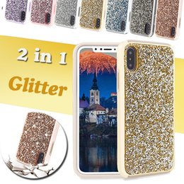 Wholesale Bling Phone Wallets - Premium bling 2 in 1 Luxury diamond rhinestone glitter back cover phone case For iPhone Samsung s8 note 8 cases SCA310