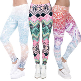 Wholesale Gold Girl Trouser - Women 3D Pants Digital Full Print Sex Girl Stretchy Capris Casual Elastic Tight fitting Slim Fitness Colorful Pencil Trousers PWDK5 WR