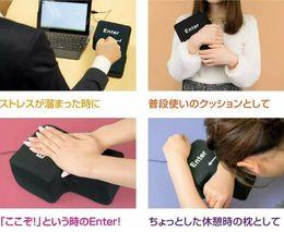 Almohada de adultos online-Juguete de descompresión de la novedad USB Big Enter Key Foam Office Nap Pillow Anti Stress Adult Tool Gift Novedad Gift Desktop Pillow Computer Laptop